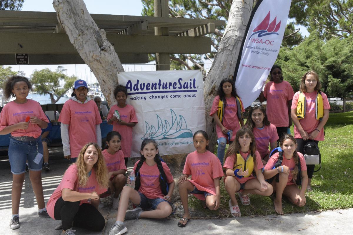 Participants at the WSA-OC Dana Point AdverntureSail